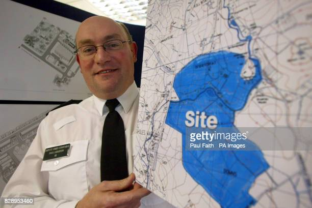 Assistant Chief Constable Paul Leighton holds the plans for Northern Ireland's 80 million police training academy which is to be built in Co Tyrone...