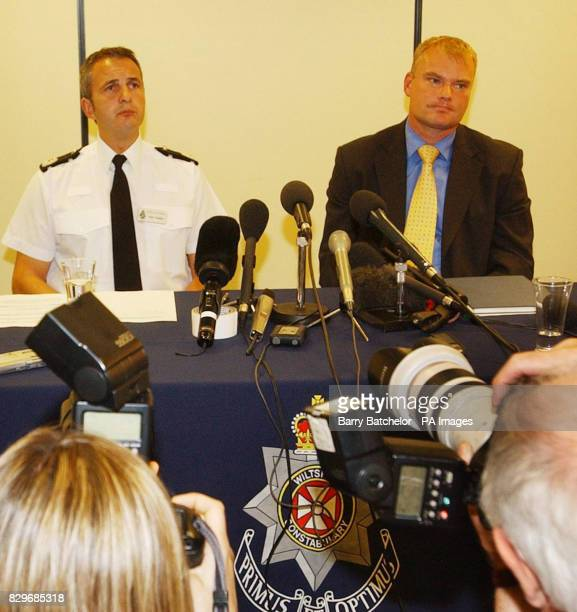 Assistant Chief Constable Peter Vaughan and Detective Superintendent Mike Veale at a press conference in connection with the Hayley Richards murder...