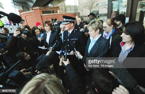 Assistant Chief Constable Steve Cotterill of Derbyshire Police issues a statement outside Nottingham Crown Court as Mick and Mairead Philpott were...