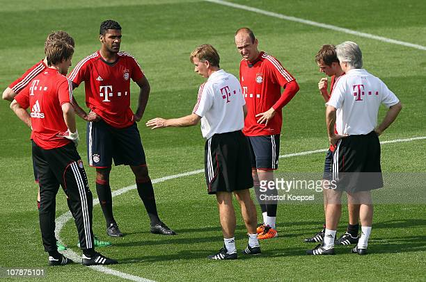 Assistant coach Andries Jonker during the FC Bayern Muenchen training session at Aspire Academy for Sports Excellence training ground on January 5...