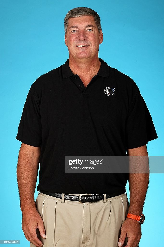 Assistant Coach <a gi-track='captionPersonalityLinkClicked' href=/galleries/search?phrase=Bill+Laimbeer&family=editorial&specificpeople=213835 ng-click='$event.stopPropagation()'>Bill Laimbeer</a> of the Minnesota Timberwolves poses for a portrait during 2010 NBA Media Day on September 24, 2010 at Lifetime Fitness Training Center inTarget Center in Minneapolis, Minnesota.