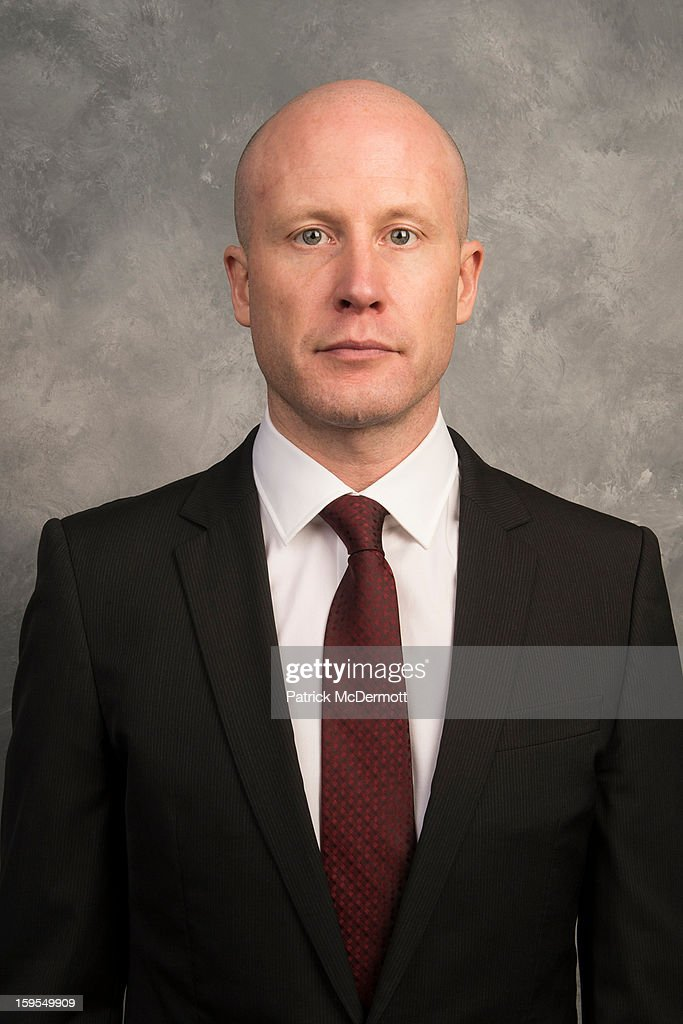 Assistant coach Blaine Forsythe of the Washington Capitals poses for his official headshot for the 2012-2013 season on January 13, 2013 at the Kettler Capitals Iceplex in Arlington, Virginia.