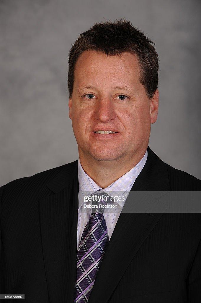 Assistant coach Brad Lauer of the Anaheim Ducks' headshot from 2011 at Honda Center in Anaheim, California.