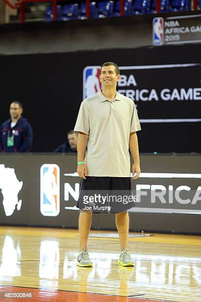 Assistant Coach Brad Stevens of Team World smiles during practice for the NBA Africa Game 2015 as part of Basketball Without Borders on July 31 2015...