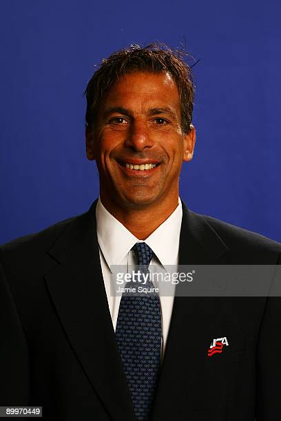 Assistant Coach Chris Chelios poses for a portrait during the USA Olympic Men's Ice Hockey Orientation Camp on August 19 2009 at Seven Bridges Ice...