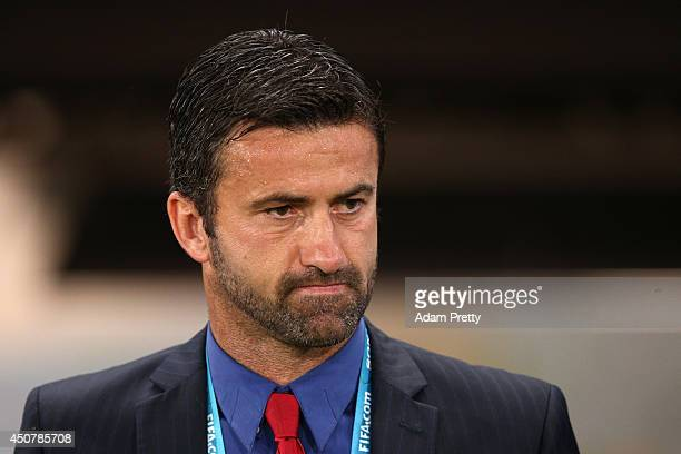 Assistant coach Christian Panucci of Russia looks on during the 2014 FIFA World Cup Brazil Group H match between Russia and South Korea at Arena...