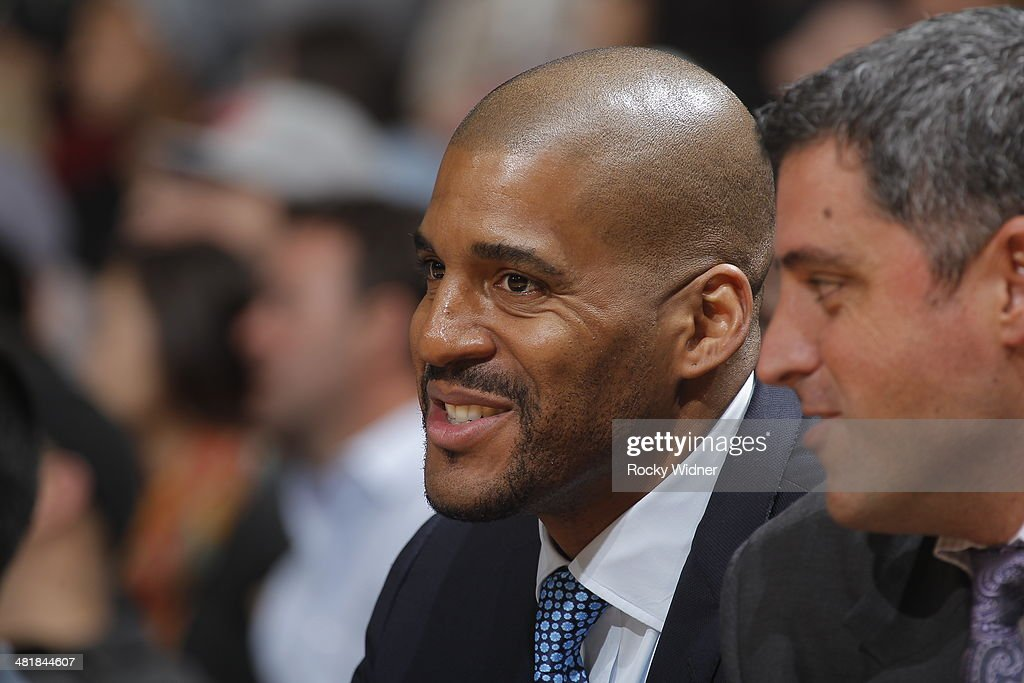Assistant coach Corliss Williamson of the Sacramento Kings during the game against the New York Knicks on March 26 2014 at Sleep Train Arena in...