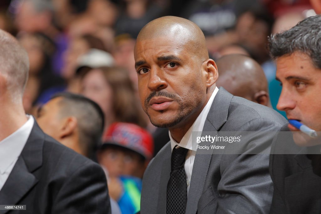 Assistant coach Corliss Williamson of the Sacramento Kings during the game against the Phoenix Suns on April16 2014 at Sleep Train Arena in...