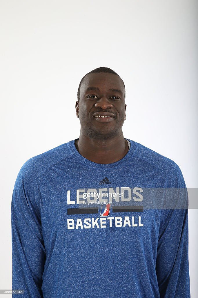 Assistant Coach Desagana Diop of the Texas Legends poses for a photo during Media Day on November 6, 2014 at the Dr. Pepper Center in Dallas, Texas.