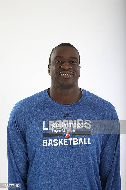 Assistant Coach Desagana Diop of the Texas Legends poses for a photo during Media Day on November 6 2014 at the Dr Pepper Center in Dallas Texas NOTE...