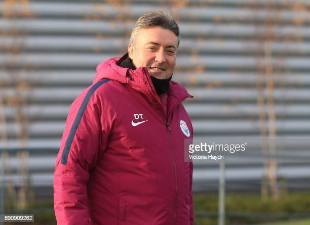 Assistant coach Domenec Torrent walking to training at Manchester City Football Academy on December 12 2017 in Manchester England