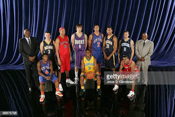 Assistant coach Elvin Hayes Nate Robinson of the New York Knicks Sarunas Jasikevicius of the Indiana Pacers Charlie Villanueva of the Toronto Raptors...