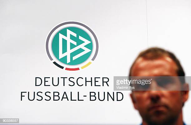 Assistant coach Hansi Flick attends the German Football National Team press conference at the Guerzenich Koeln on September 4 2009 in Cologne Germany