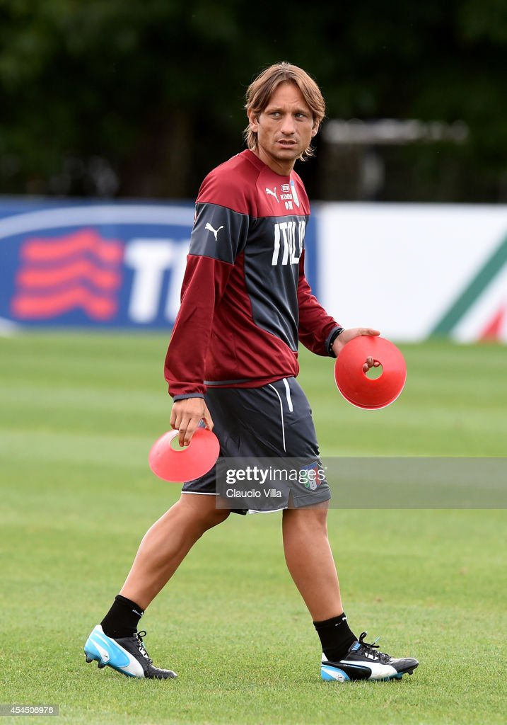 Assistant coach Italy Daniele Conte during Italy Training Session at Coverciano on September 2, 2014 in Florence, Italy.