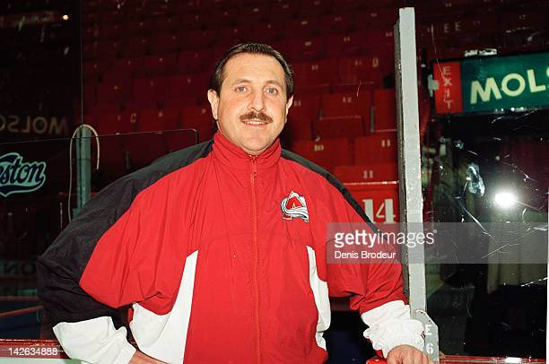 Assistant Coach Jacques Martin of the Colorado Avalanche poses for a photo at the Montreal Forum circa 1995 in Montreal Quebec Canada