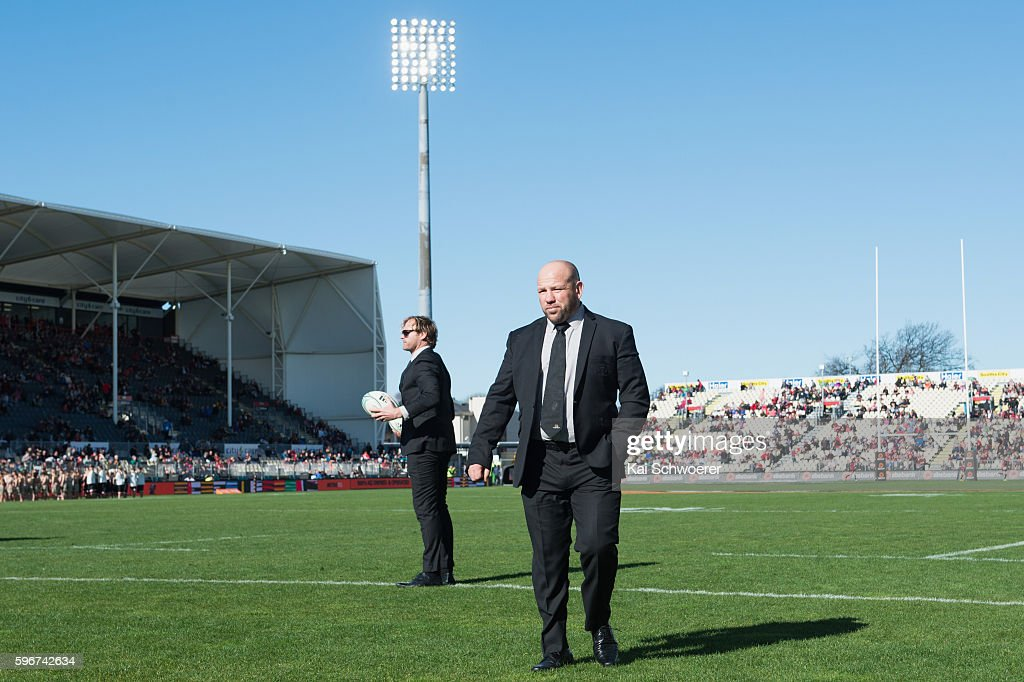 Assistant Coach Jason Ryan of Canterbury looks on prior to the round two Mitre 10 Cup match between Canterbury and Tasman at AMI Stadium on August 28...