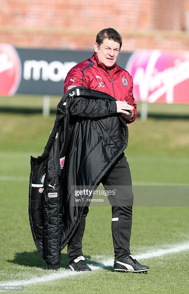 Assistant coach John Carver attends a Newcastle United training session at the Little Benton training ground on February 28, 2013 in Newcastle upon Tyne, England.