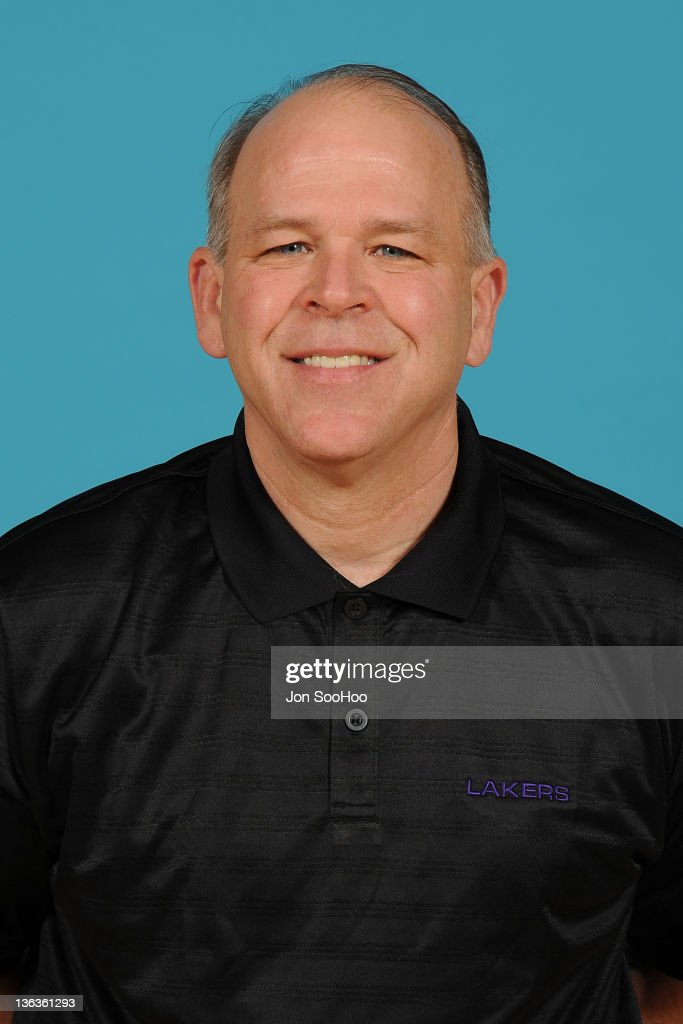 Assistant Coach John Kuester of the Los Angeles Lakers poses for a photo during Media Day at Toyota Sports Center on December 11 2011 in El Segundo...