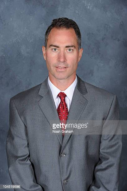 Assistant Coach John Stevens of the Los Angeles Kings poses for his official headshot for the 20102011 season on September 17 2010 at the Toyota...