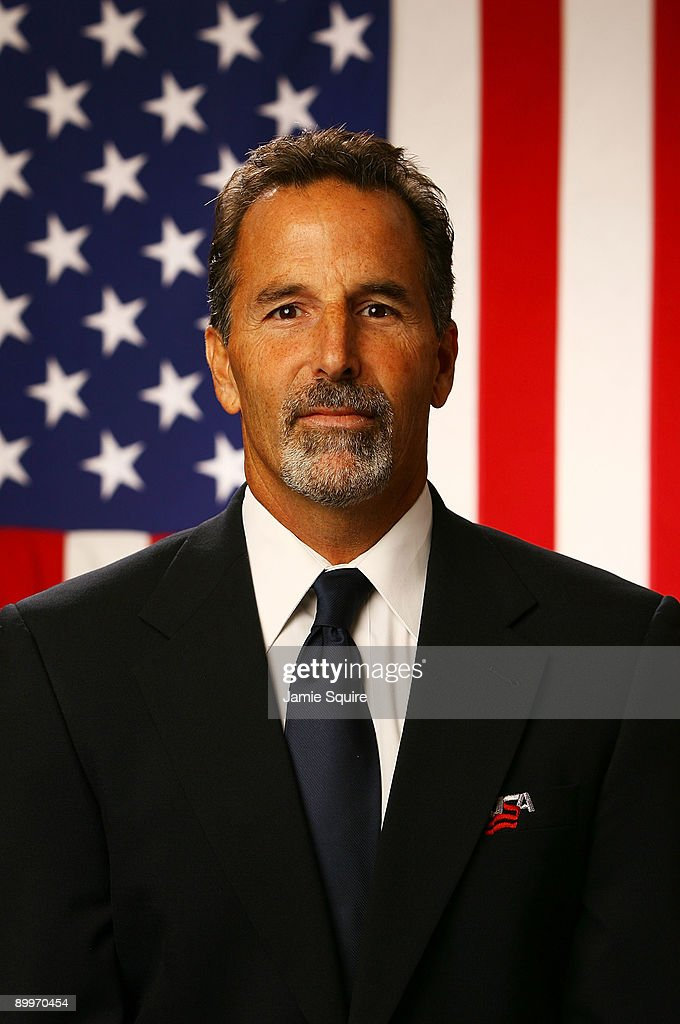 Assistant Coach <a gi-track='captionPersonalityLinkClicked' href=/galleries/search?phrase=John+Tortorella&family=editorial&specificpeople=213393 ng-click='$event.stopPropagation()'>John Tortorella</a> poses for a portrait during the USA Olympic Men's Ice Hockey Orientation Camp on August 19, 2009 at Seven Bridges Ice Arena in Woodridge, Illinois.