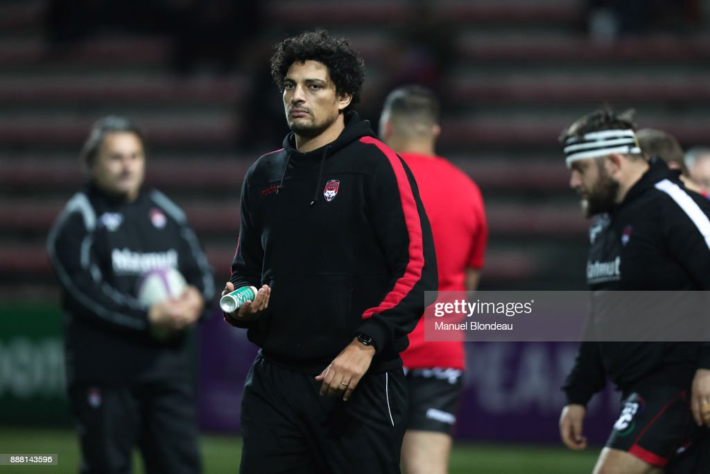 Assistant coach Karim Ghezal of Lyon during the European Challenge Cup match between Toulouse and Lyon on December 7, 2017 in Toulouse, France.