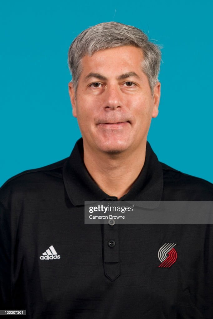 Assistant coach Larry Greer of the Portland Trail Blazers poses for a portrait during Media Day on December 16, 2011 at the Rose Garden Arena in Portland, Oregon.