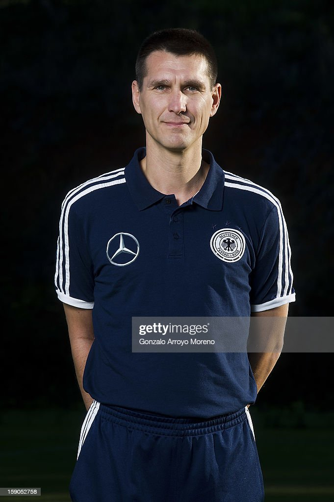 Assistant coach Michael Prus poses during the Germany U17 team presentation at La Manga Club training ground H on January 6, 2013 in La Manga, Spain.