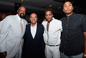 Assistant coach Mike Woodson of the Los Angeles Clippers NBA Deputy Commissioner Mark Tatum former NBA player and Founder of Active Dreamers Jack...