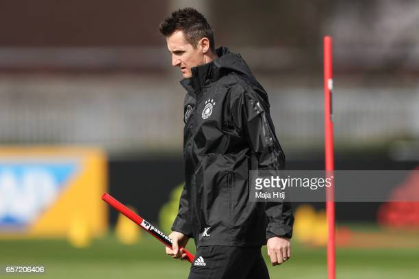 Assistant coach Miroslav Klose during training of German national team ahead of the FIFA World Cup qualification match 2018 against Azerbaijan on...