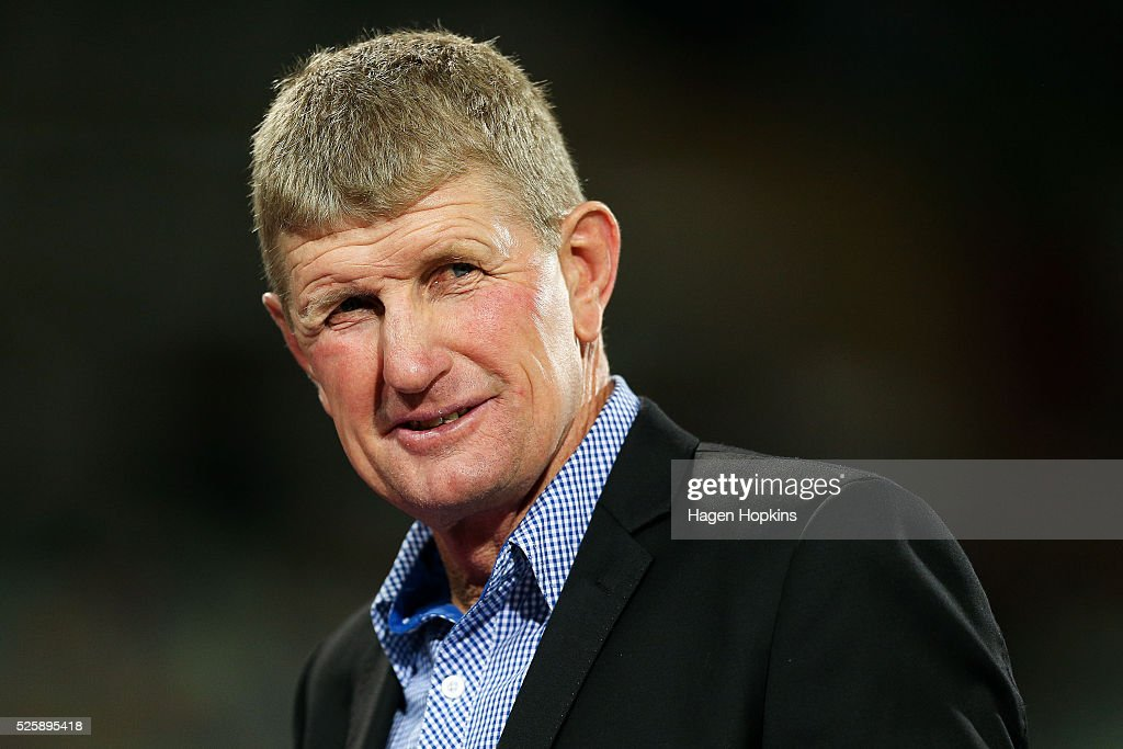 Assistant coach Neil Barnes of the Chiefs looks on during the round 10 Super Rugby match between the Chiefs and the Sharks at Yarrow Stadium on April 29, 2016 in New Plymouth, New Zealand.