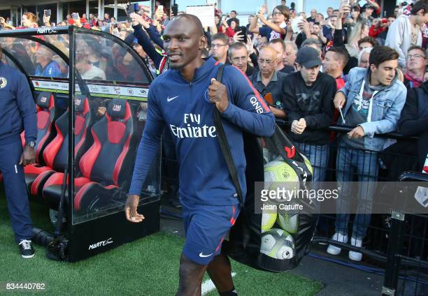 Assistant coach of PSG Zoumana Camara during the French Ligue 1 match between En Avant Guingamp and Paris Saint Germain at Stade de Roudourou on...