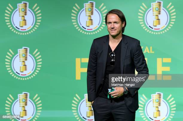 Assistant coach of the German national team Thomas Schneider arrives for the DFB Cup Final 2017 between Eintracht Frankfurt and Borussia Dortmund at...