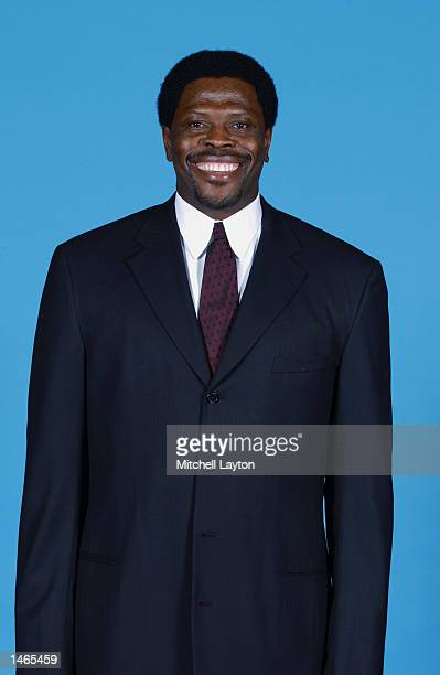 Assistant coach Patrick Ewing of the Washington Wizards poses for a portrait during the Wizards Media Day on September 30 2002 at MCI Center in...
