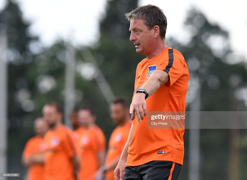 assistant coach Rainer Widmayer of Hertha BSC during the training on june 29, 2016 in Berlin, Germany.