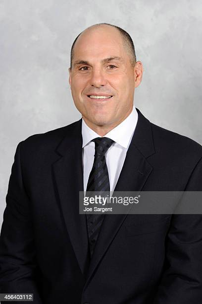 Assistant coach Rick Tocchet of the Pittsburgh Penguins poses for his official headshot for the 20142015 season on September 18 2014 at the Consol...