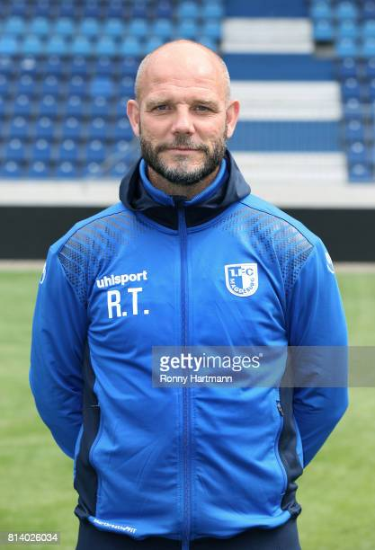 Assistant coach Ronny Thielemann poses during the team presentation of 1 FC Magdeburg at MDCCArena on July 13 2017 in Magdeburg Germany