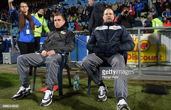 assistant coach Sebastian Boenig and coach Sascha Lewandowski of 1 FC Union Berlin during the game between Union Berlin and VfL Bochum on november 20...