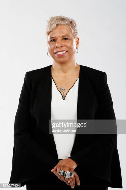 Assistant coach Shelley Patterson of the Minnesota Lynx poses for portraits during 2017 Media Day on May 1 2017 at the Minnesota Timberwolves and...
