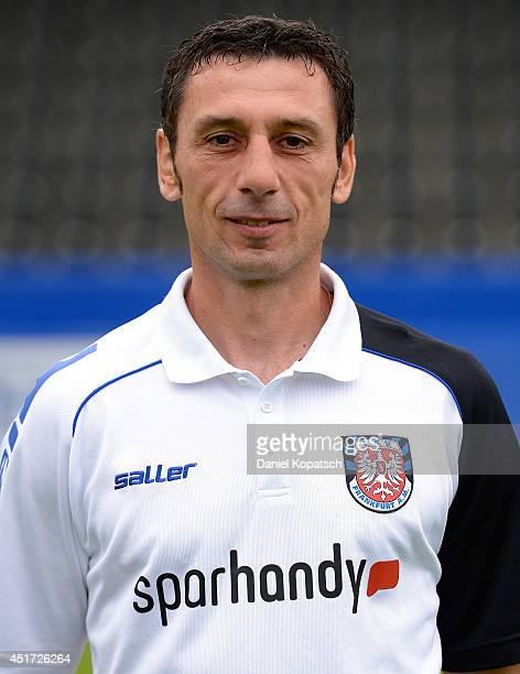 Assistant coach Sven Kmetsch poses during the team presentation of FSV Frankfurt on July 5 2014 in Frankfurt am Main Germany