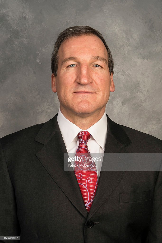 Assistant coach Tim Hunter of the Washington Capitals poses for his official headshot for the 2012-2013 season on January 12, 2013 at the Kettler Capitals Iceplex in Arlington, Virginia.