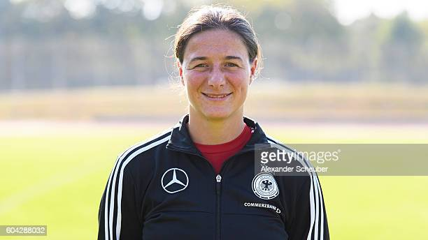 Assistant coach Verena Hagedorn poses during the Germany Women's team presentation on September 13 2016 in Frankfurt am Main Germany