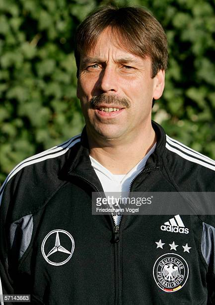 Assistant Coach Willi Zander during the photo call of the German Under 21 National Team on March 20 2006 in Delbruck Germany