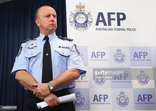 Assistant Commissioner Neil Gaughan speaks to the media about the terrorism raids that took place in Melbourne this morning at Victoria Police Centre...
