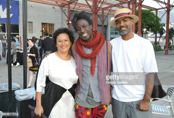 Assistant Curator at MOCA Lanka Tattersall singersongwriter Saul Williams and director Kahlil Joseph attend MOCA's Leadership Circle and Members'...