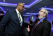 Assistant Director/producer Donald L Sparks and Film critic Leonard Maltin attend the 40th Annual Los Angeles Film Critics Association Awards at...