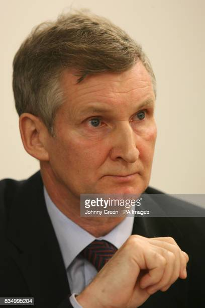 Assistant general secretary of Unite Paul Talbot during the Future Heathrow press conference at the America Square Conference Centre in the City of...