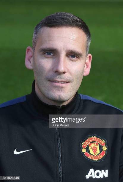 Assistant Kit Manager Ian Buckingham of Manchester United poses at the annual club photocall at Old Trafford on September 26 2013 in Manchester...