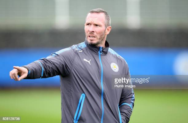 Assistant manager Michael Appleton during the Leicester City training session at Belvoir Drive Training Complex on August 09 2017 in Leicester United...