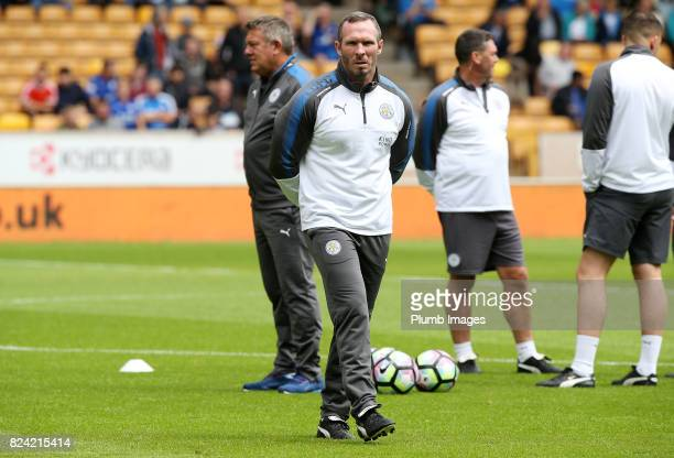 Assistant manager Michael Appleton of Leicester City at Molineux Stadium ahead of the pre season friendly between Wolverhampton Wanderers and...