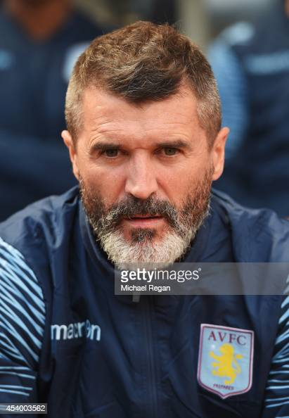Assistant Manager of Aston Villa Roy Keane looks on during the Barclays Premier League match between Aston Villa and Newcastle United at Villa Park...